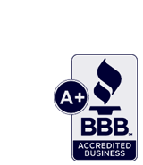 The Better Business Bureau A+ rating