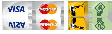 visa interac mastercard cash